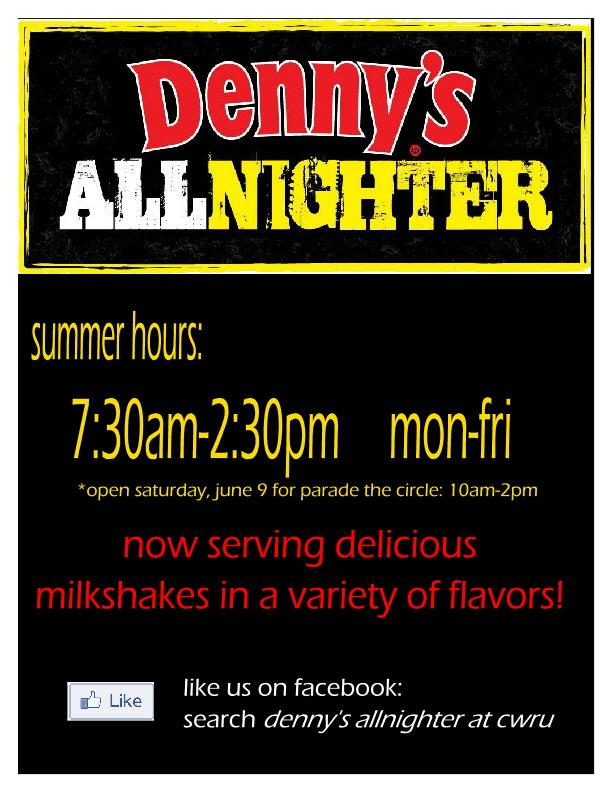 Denny's All Nighter launches summer hours; to be open June 9 for ...
