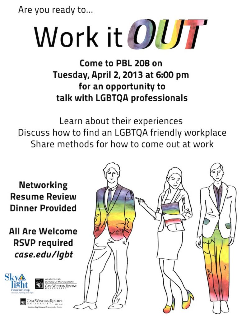 Work It Out CWRU flier