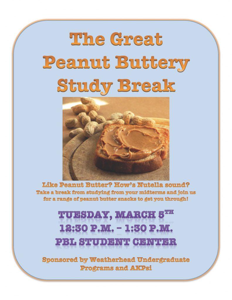 Great Peanut Buttery Study Break CWRU