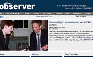CWRU Observer website