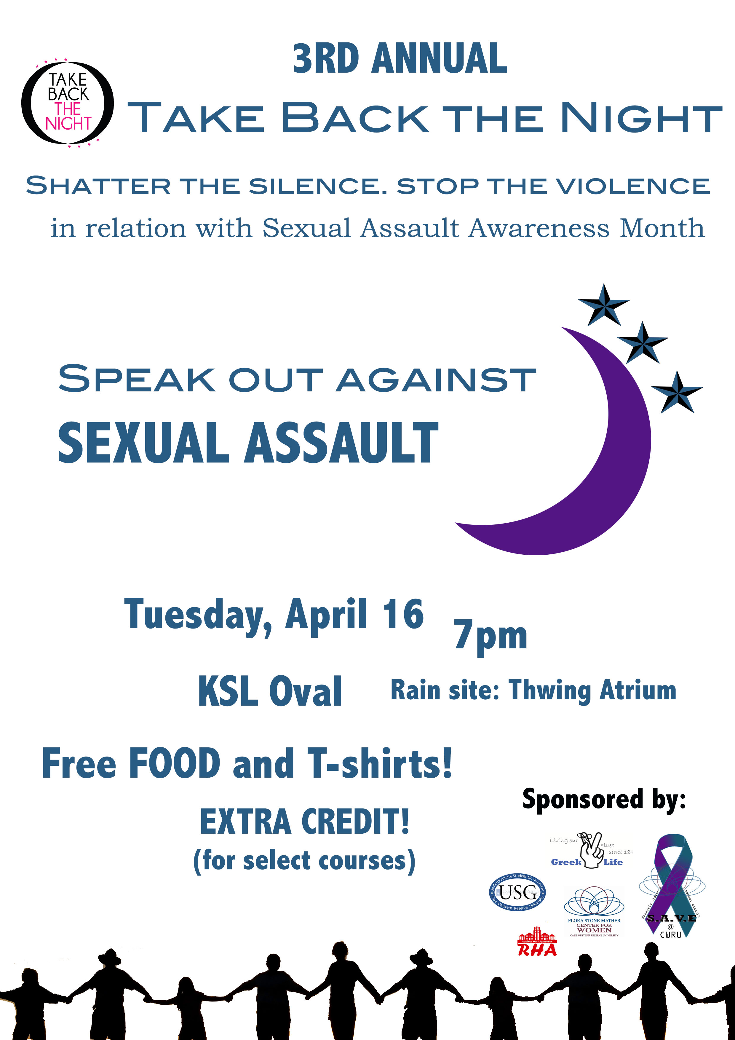 Take Back the Night at CWRU flier