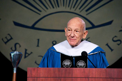 Photo of Peter B. Lewis at CWRU commencement