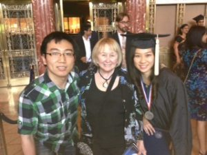 Skyler Xie (CWR '13) pictured with Phyllis Benjamin