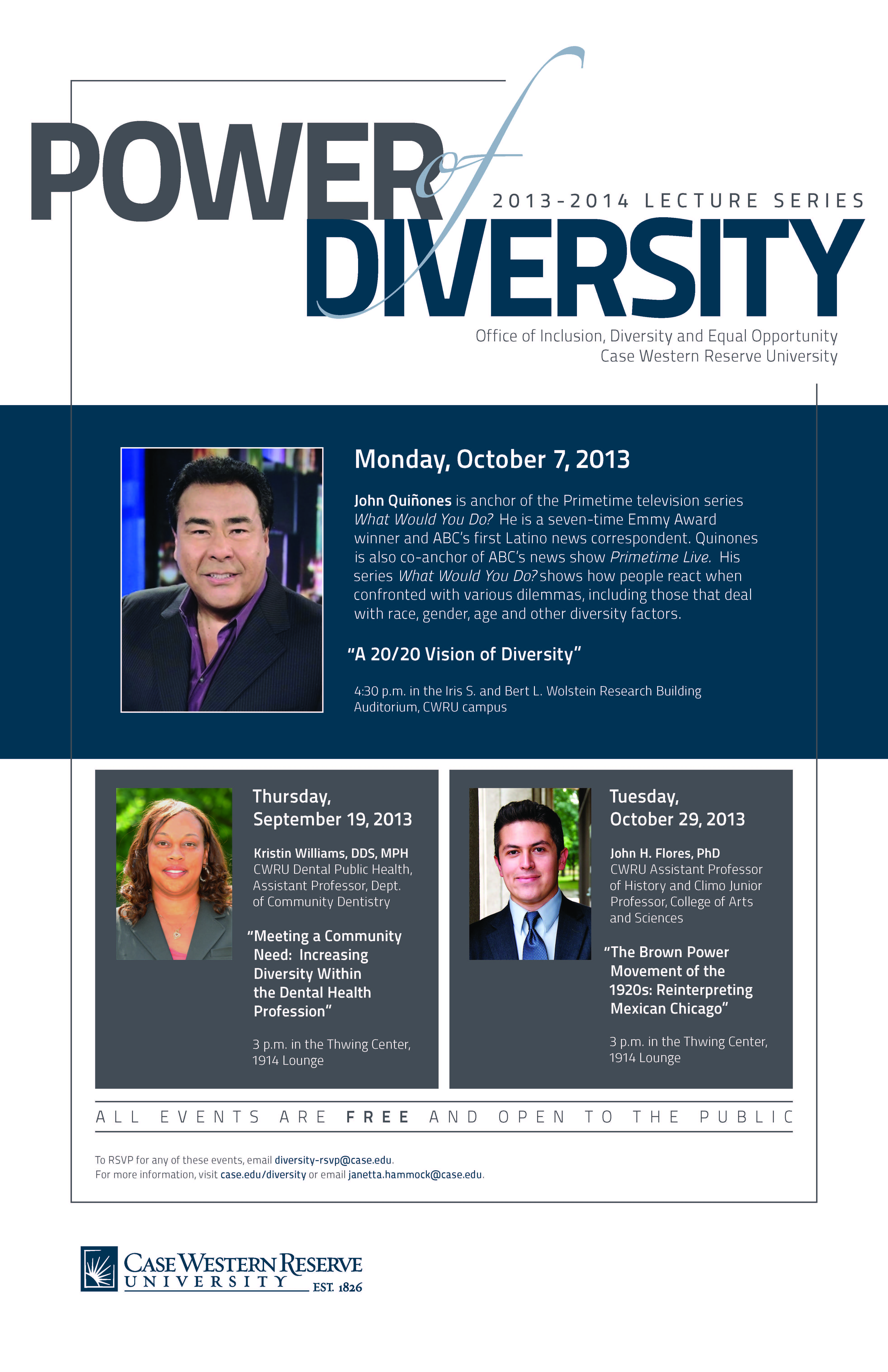 Power of Diversity Lecture Series CWRU