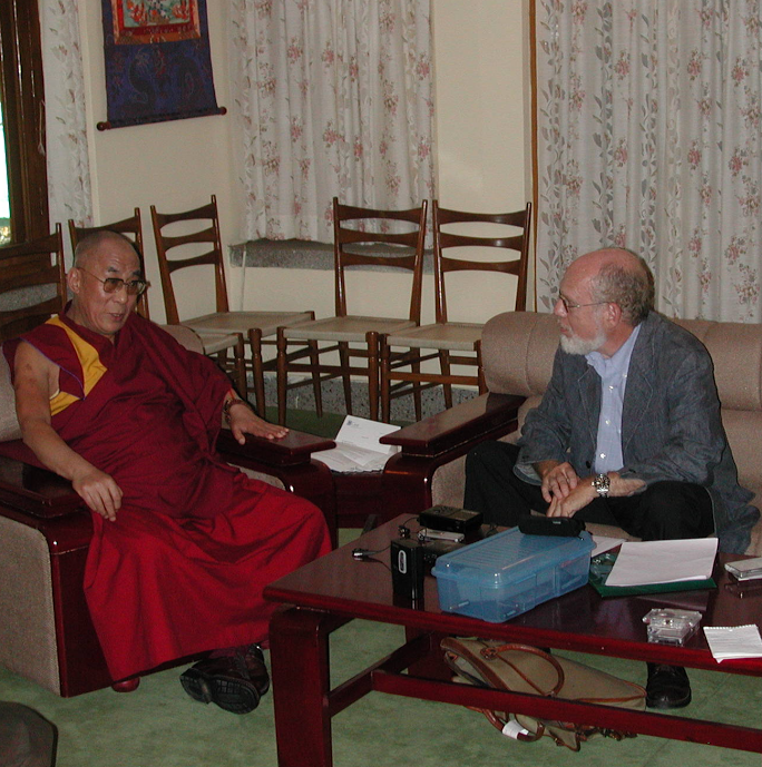 Dalai Lama and Professor Goldstein