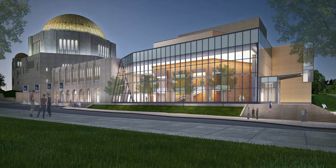 Rendering of the Milton and Tamar Maltz Performing Arts Center CWRU