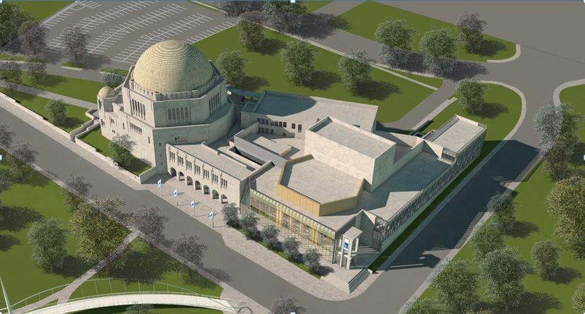 Exterior overview of The Temple – Tifereth Israel