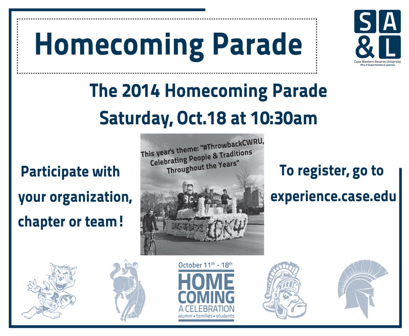 Register your car, banner or float for the 2014 homecoming parade ...