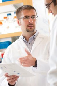 Paul Tesar working in a lab
