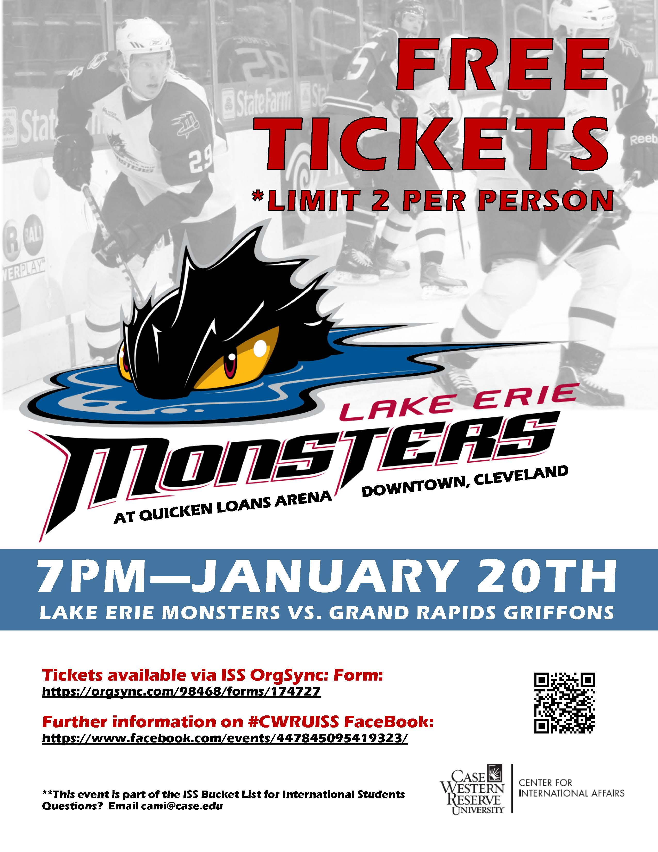Lake Erie Monsters Game Flyer