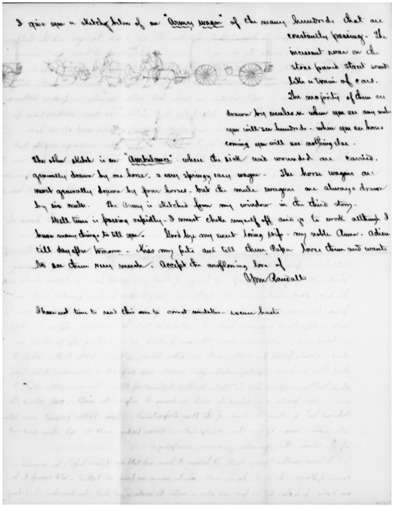Civil War letter by Randall Wade