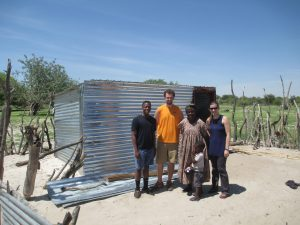 Students who travelled to Namibia to install solar panels