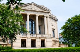 Exterior of Severance Hall, home to Cleveland Orchestra