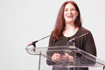 CWRU researcher Nicole Ward giving a lecture