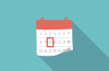 Calendar icon with 10 circled