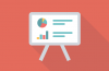 Easel with charts icon