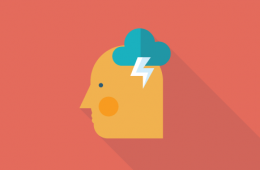 Person brainstorming icon
