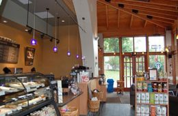 Inside interior of Starbucks