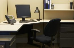 Picture of office furniture in a cubicle