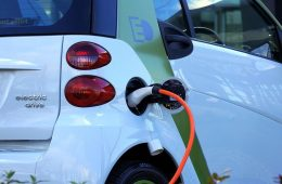 Image of electric car charging