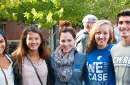 CWRU students at a homecoming event