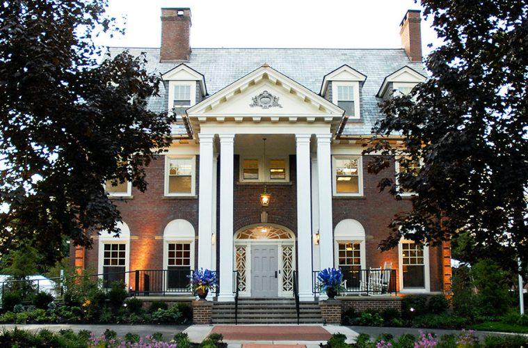 exterior of Alumni House