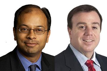 Headshots of CWRU medicine professors Mukesh Jain and Stanley Hazen