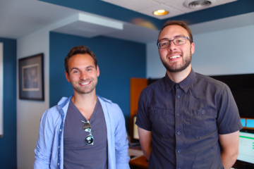 Remesh co-founders Aaron Slodov (left) and Andrew Konya