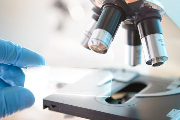 Science lab microscope slide