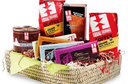 Basket of fair trade goods