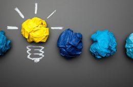 Photo illustration of a light bulb as an idea being born