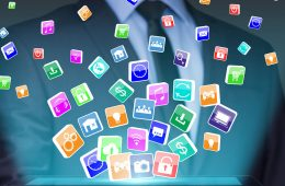 Photo of multiple mobile apps icons