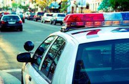 Photo of police car on city street