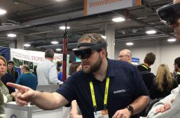 Robert Gotschall demonstrating Microsoft HoloLens at CES