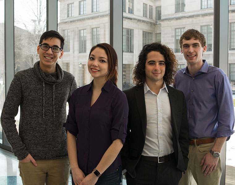 Dominic Montante, Xyla Foxlin, Matt Campagna and Brian Pollack