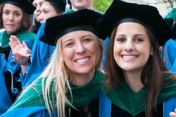 Doctoral candidates pose for photo at commencement