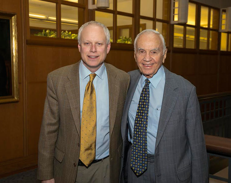 John Protasiewicz with Morton L. Mandel