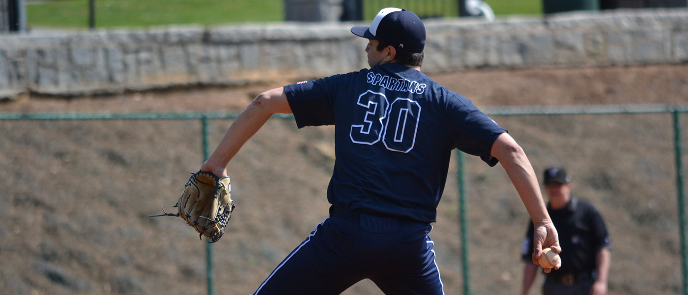 CWRU baseball player throws the ball