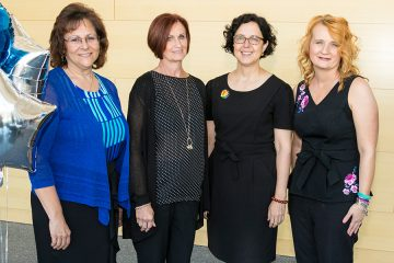 Group photo of Debra Bush, Susette Ziats, Elizabeth Woyczynski and Kori Kosek