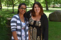 Photo of Mathanki Singaravelan and Jessica Becker