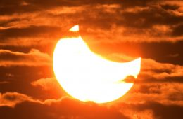 Photo of partial solar eclipse