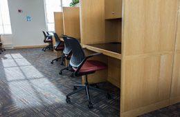 Photo of graduate student study carrels