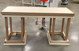 Photo of desk Alice Li built in Sears think[box]