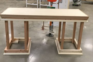 Photo of desk Alice Li built in Sears think[box]