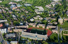 Aerial view of North Residential Village