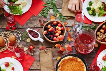 fall dinner table spread