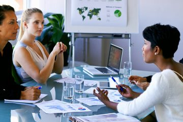 women in meeting
