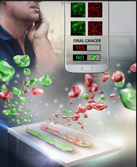 Illustration of oral cancer detection device.