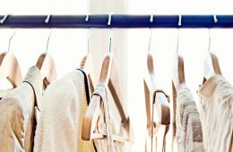 clothing on a rack