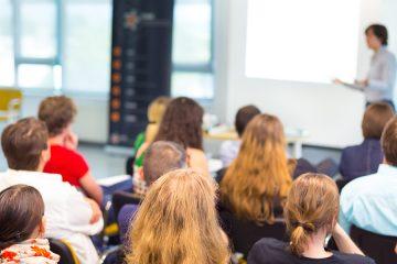 person presenting lecture